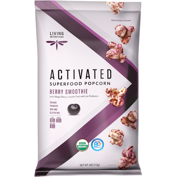 Living Intentions Berry Smoothie Superfood Popcorn - 113g