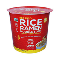 Lotus Foods Red Miso Rice Ramen Noodle Soup Cup - 57g
