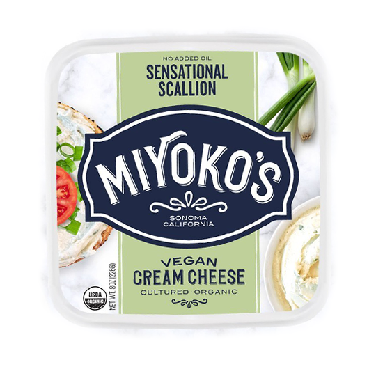 Miyoko's Savory Scallion Cream Cheese - 226g