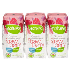 Natur-A Strawberry Soy Milk - 3x 200ml