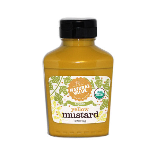 Natural Value Organic Yellow Mustard Squeezy - 255g