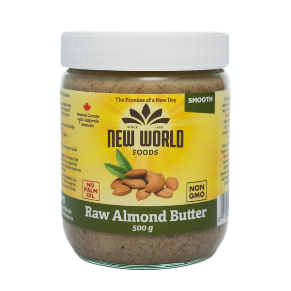 New World Raw Smooth Almond Butter - 500g