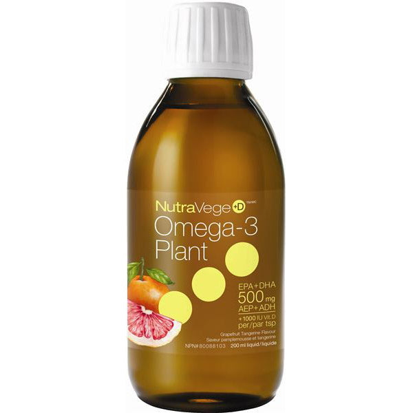 NutraVege Grapefruit Tang +D Omega-3 Oil - 200ml