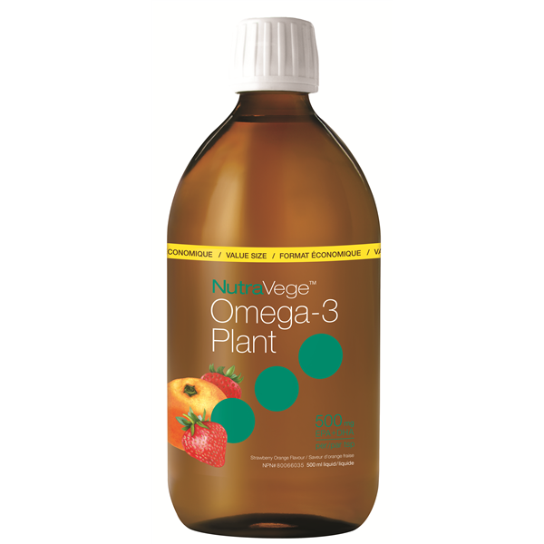 NutraVege Strawberry Orange Omega-3 Oil- 500ml