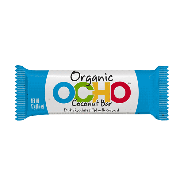 Ocho Dark Chocolate Coconut Bar - 42g