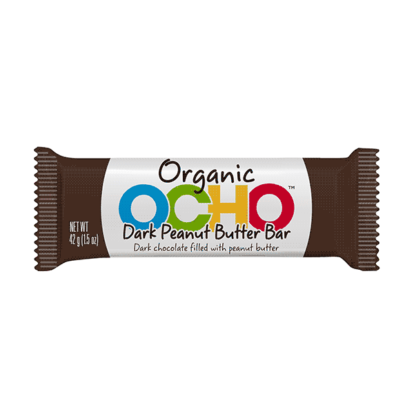 Ocho Dark Chocolate Peanut Butter Bar - 42g