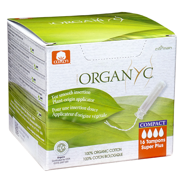 Organyc Super Plus Compact Tampons - 16 Tampons