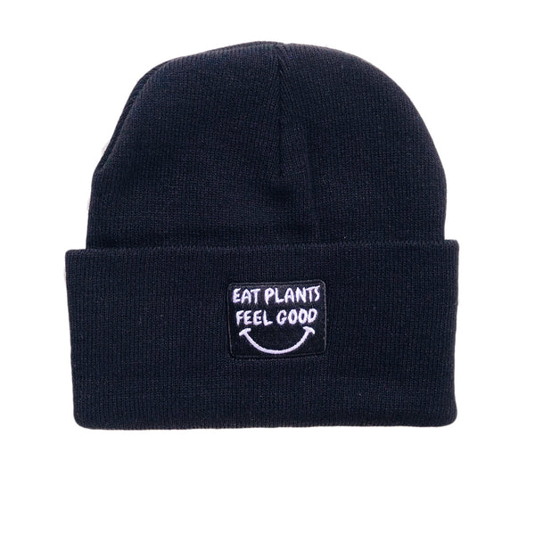 Plant Active 'Eat Plants Feel Good' Black Toque