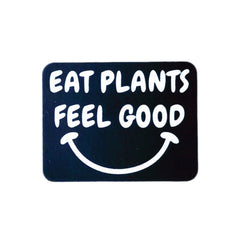Plant Active 'Eat Plants Feel Good' Sticker - Black