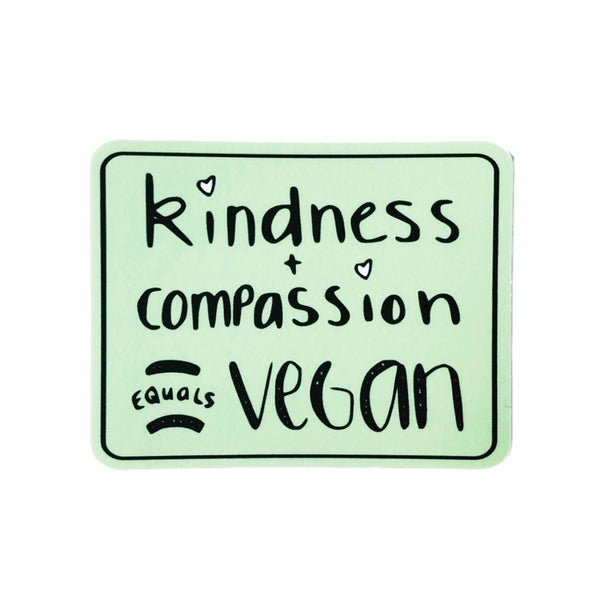 Plant Active 'Kindness + Compassion' Sticker - Green