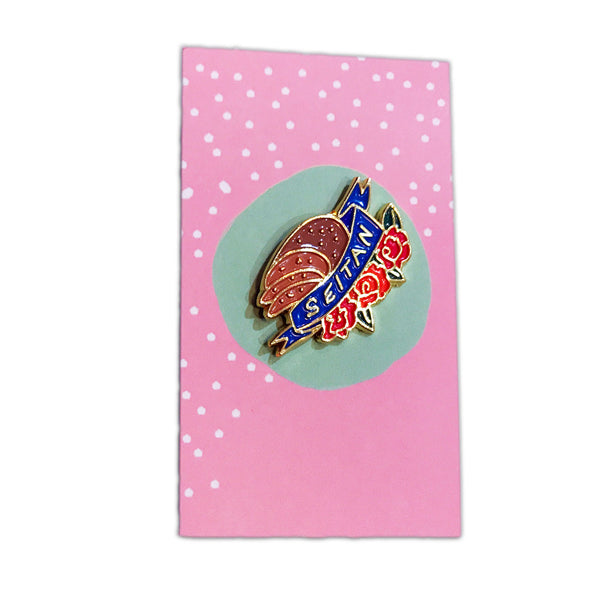 Pretty Candy Pin Company Seitan Enamel Pin