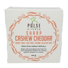 Pulse Kitchen Sharp Cashew Cheddar Cheese - 100g
