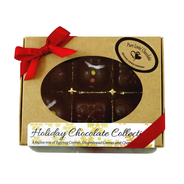 Pure Lovin' Chocolate 6 Piece Holiday Collection Box - 60g