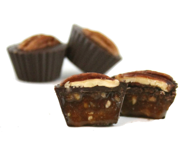 Pure Lovin' Chocolate Pecan Caramel Cups 4pc Box - 75g
