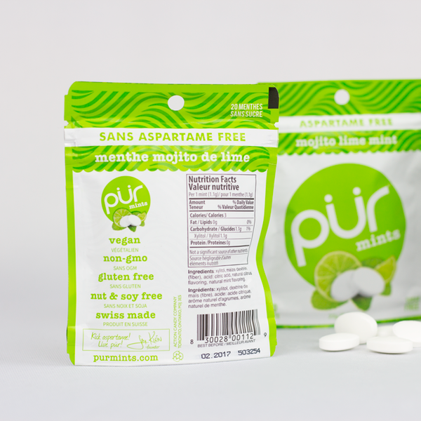 Pur Mojito Lime Mints - 22g