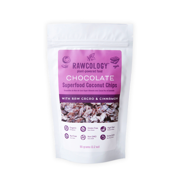 Rawcology Chocolate Superfood Coconut Chips - 90g