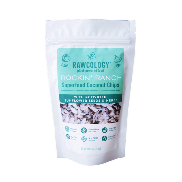 Rawcology Rockin' Ranch Superfood Coconut Chips - 90g