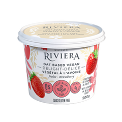 Maison Riviera Strawberry Oat Milk Delight Yogurt - 500g