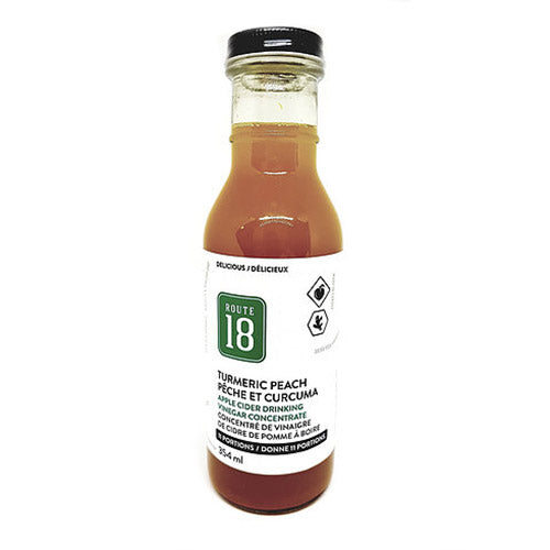 Route 18 Turmeric Ginger Peach Apple Cider Drink - 354ml