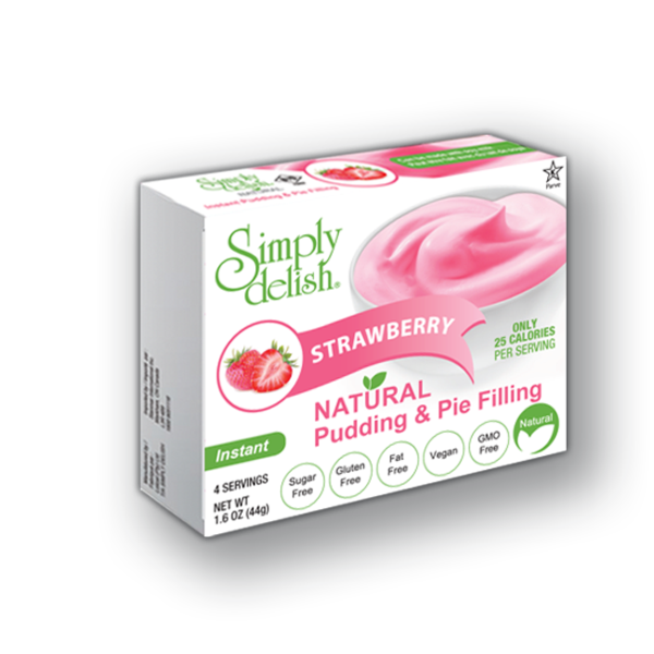 Simply Delish Strawberry Pudding Mix - 48g