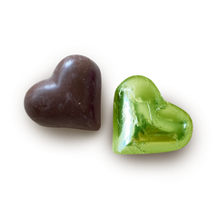 Sjaak's Green Tea & Lemon Dark Chocolate Heart Bites - 14g
