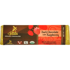 Sjaak's Dark Chocolate with Raspberry Bar - 45g