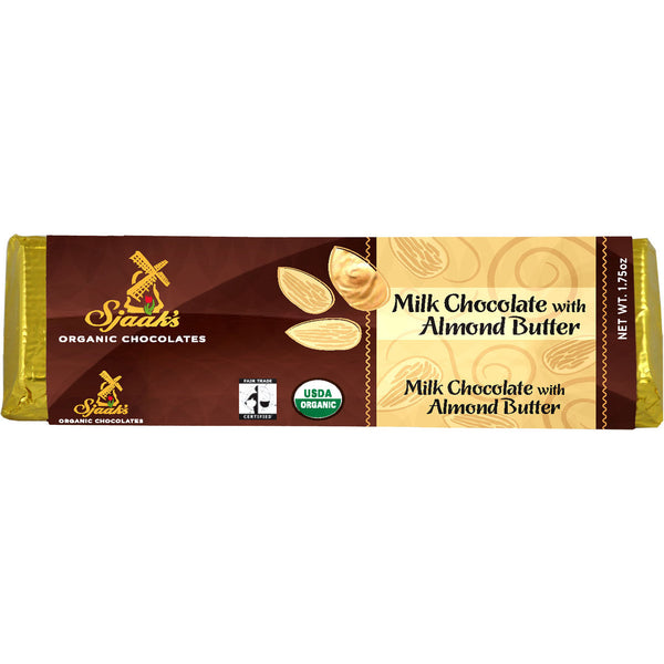 Sjaak's Melk Chocolate with Almond Butter Bar - 45g