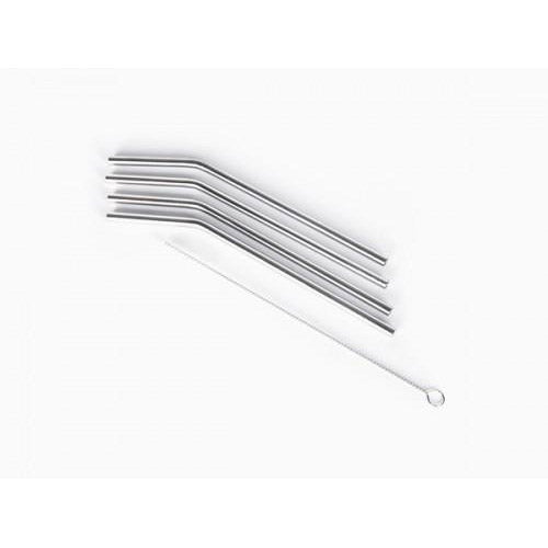 Onyx Metal Straws - Set of 4 (17.65cm x 6mm)