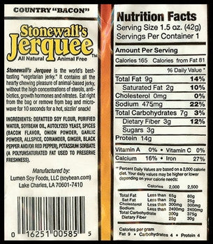 Stonewall's Jerquee Country Bacon Jerky - 42g