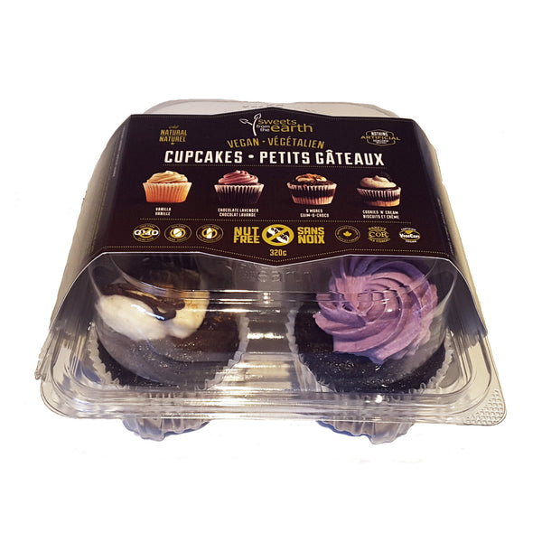 Sweets from the Earth Assorted Cupcake 4-Pack - 320g