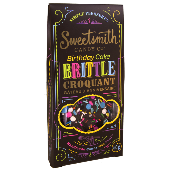 Sweetsmith Candy Co Double Dark Chocolate Birthday Cake Brittle - 56g