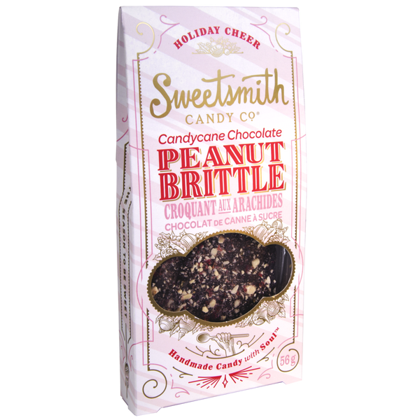 Sweetsmith Candy Co Candy Cane Chocolate Peanut Brittle - 56g