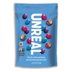 Unreal Dark Chocolate Candy Coated Peanut Gems - 142g