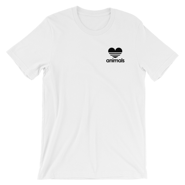 Veganized World 'Love Animals' T-Shirt - White