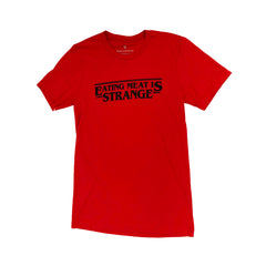 Veganized World 'Eating Meat Is Strange' T-Shirt - Red