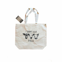 Vegan Police 'I Don't Eat Pals' Recycled Tote