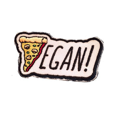 Vegan Power Co Vegan Pizza Iron On Patch