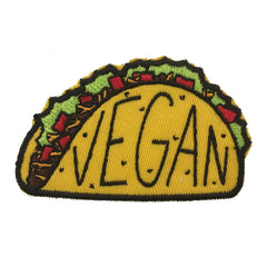 Vegan Power Co Vegan Taco Iron On Patch