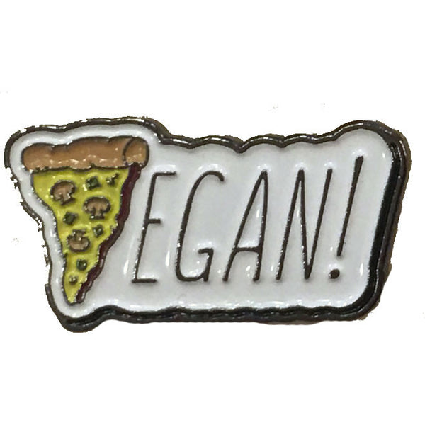 Vegan Power Co Vegan Pizza Enamel Pin