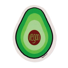 "Vegan Power Co 3"" Avocado Sticker"