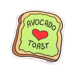 "Vegan Power Co 3"" Avocado Toast Sticker"