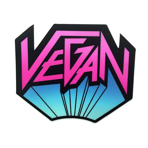 "Vegan Power Co 3"" Vegan Metal Sticker"