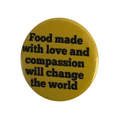 Vegan Supply 'Food Made With Love And Compassion' Button