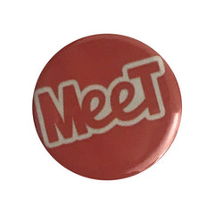 Vegan Supply 'Meet (Double Red)' Button