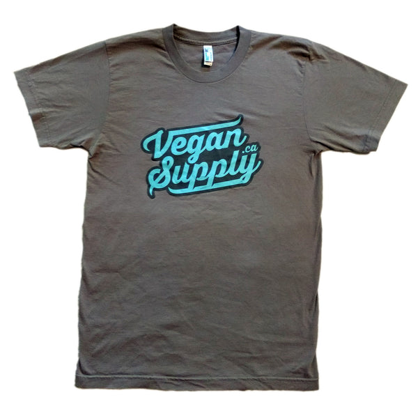 Vegan Supply 'Blue Logo' Grey Unisex T-Shirt