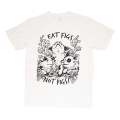 Vegan Veins 'Eat Figs Not Pigs!' White Unisex T-Shirt