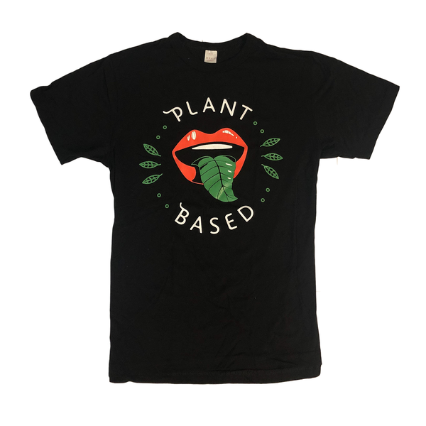 Vegan Veins 'Plant Based' Black Unisex T-Shirt