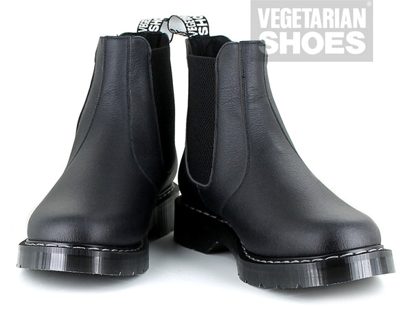 Vegetarian Shoes Airseal Chelsea Black Boots