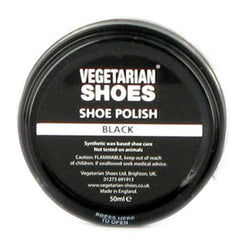 Vegetarian Shoes Black Shoe Polish - 50ml