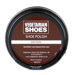 Vegetarian Shoes Brown Shoe Polish - 50ml